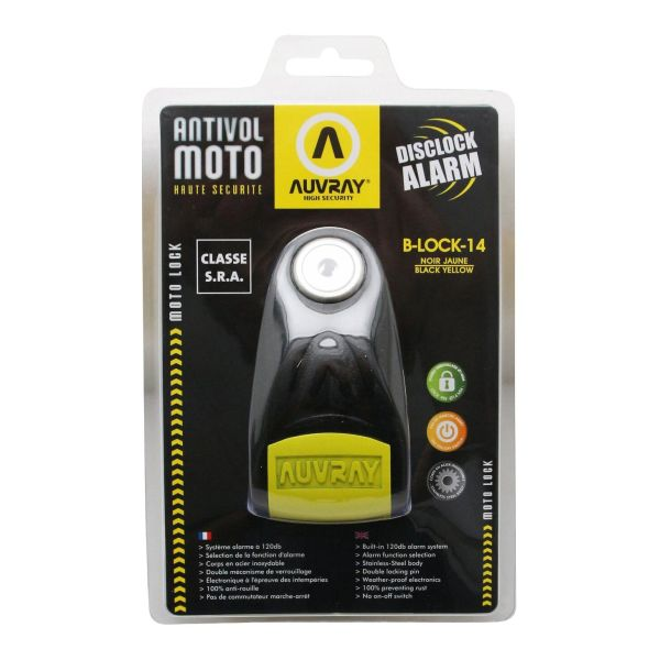 Antivol Bloque Disque Auvray B-LOCK 14 SRA - Noir