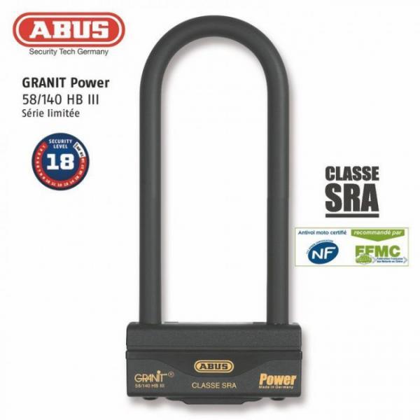 Antivol U ABUS GRANIT POWER 58/140HB3 230 SL SRA