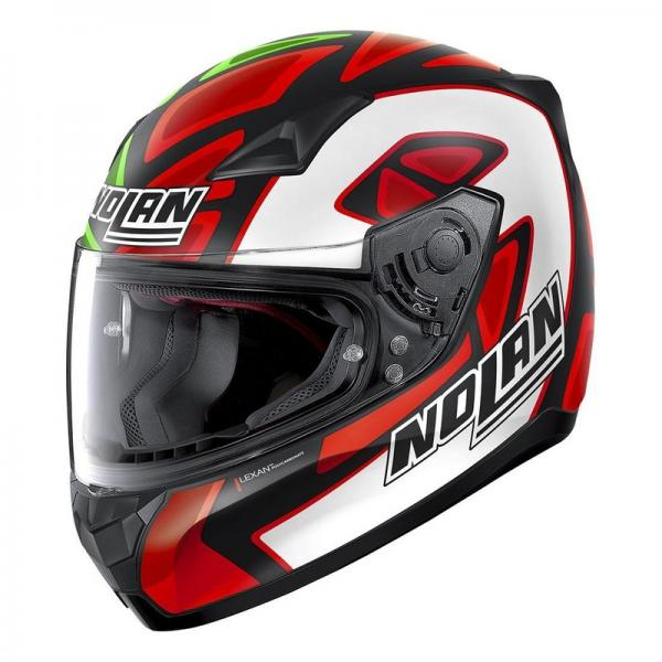 Casque Nolan N60-5 GEMINI REPLICA PETRUCCI MISANO - Vert / Blanc / Rouge