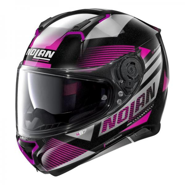 Casque Nolan N87 JOLT N-COM METAL - Noir / Violet