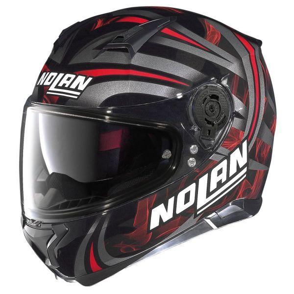 Casque Nolan N87 LEDLIGHT N-COM - Rouge