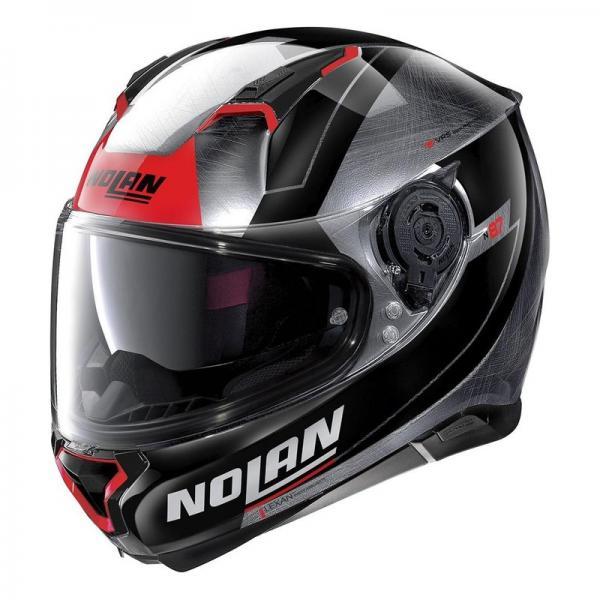 Casque Nolan N87 SKILLED N-COM SCRATCHED - Chrome