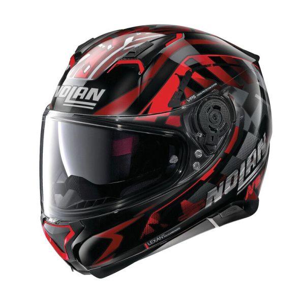 Casque Nolan N87 VENATOR N-COM GLOSSY - Noir / Rouge