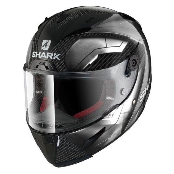 Casque Shark RACE-R PRO CARBON DEAGER - Carbone / Chrome / Blanc