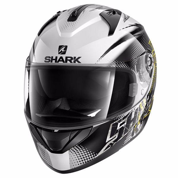 Casque Shark RIDILL FINKS - Blanc / Noir / Jaune