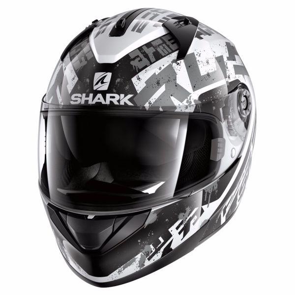 Casque Shark RIDILL KENGAL - Blanc / Noir / Gris