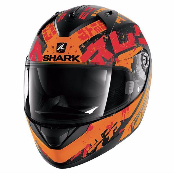 Casque Shark RIDILL KENGAL MAT - Noir / Orange / Rouge