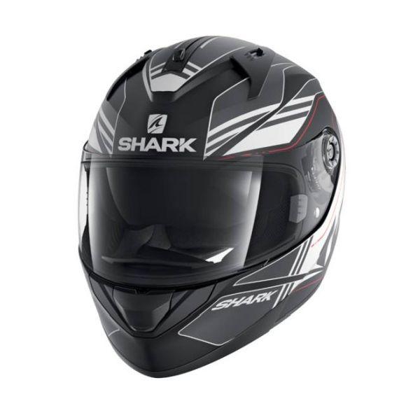 Casque Shark RIDILL TIKA MAT - Noir / Gris / Blanc
