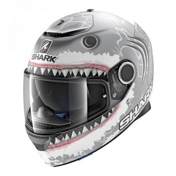 Casque Shark SPARTAN REPLICA LORENZO SHARK - Gris / Blanc