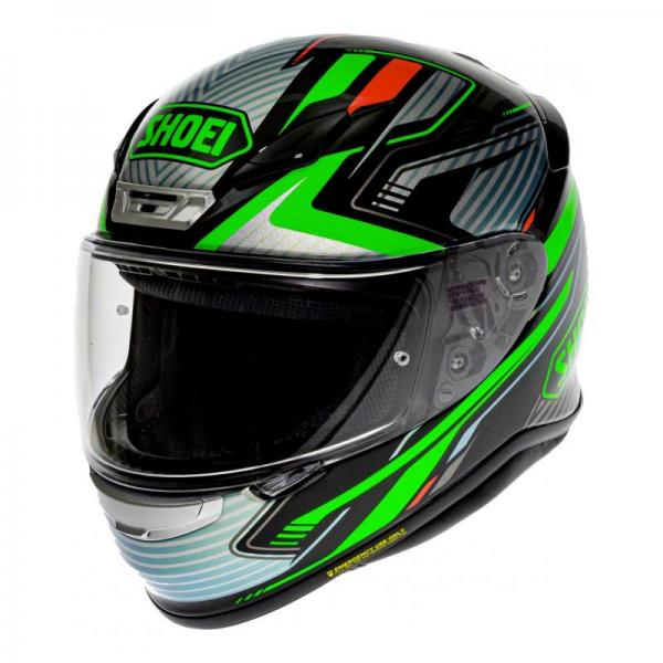 Casque Shoei NXR STAB TC-4 - Vert / Gris / Rouge / Noir