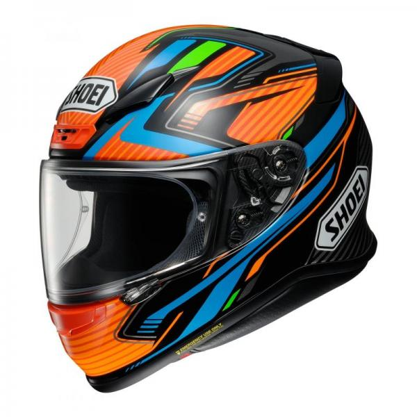 Casque Shoei NXR STAB TC-8 - Orange / Bleu / Vert / Noir