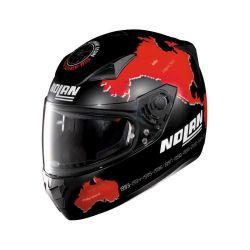 Casque Nolan N60-5 GEMINI REPLICA CHECA FLAT - Noir / Rouge