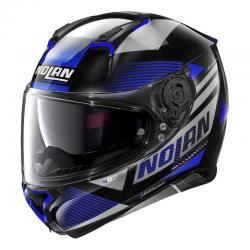Casque Nolan N87 JOLT N-COM METAL - Noir / Bleu
