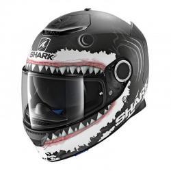 Casque Shark SPARTAN REPLICA LORENZO SHARK - Noir / Blanc / Gris